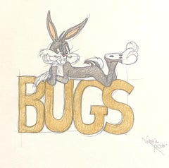 Warner Brothers Virgil Ross Animation Drawing of Bugs Bunny