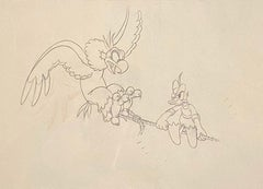 Walt Disney Production Drawing of Donald Duck from Alpine Climbers (1936)