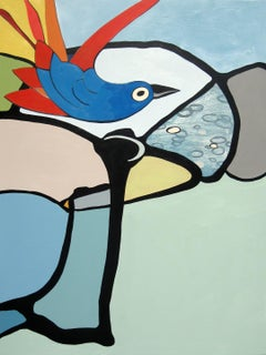 KOOKABURRA - colorful abstract painting