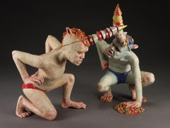 PARTY BOYS - surreal ceramic sculpture - monsters
