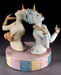 BACK TO BACK - surreal ceramic sculpture
