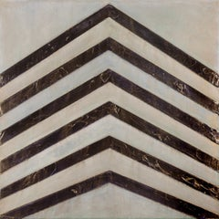 EARTHWORKS #2 - angular linear abstract art