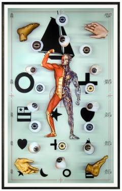 VISIBLE ANATOMY SERIES - SEEING VISIBLE MAN - VANITAS - hyperrealistic painting