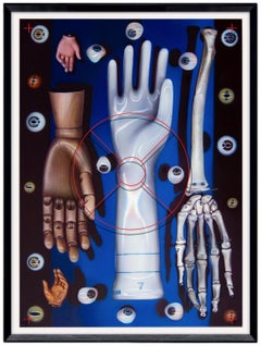 VISIBLE ANATOMY SERIES -SEEING TOUCH - surreal painting