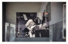 REFLECTIONS ON BEUYS #9 - ARENA: BEUYS ASLEEP (DIA) - hyperrealistic painting