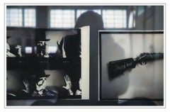 REFLECTIONS ON BEUYS #5 - ARENA: WITH RIFLE (DIA) - hyperrealistic painting