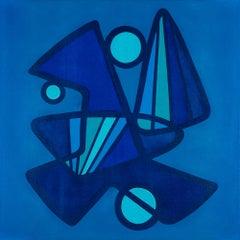 BARANADA BLUES #5 - blue geometric abstraction