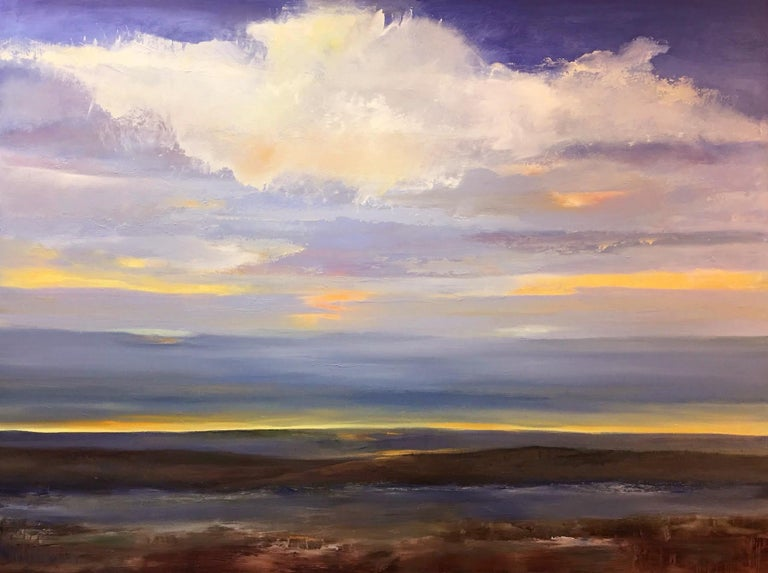 Gina Rossi Landscape Painting - Day Meets Night