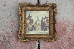 Little Dutch Village Street Scene on Tile