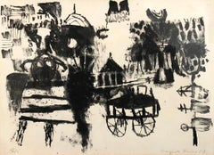 Untitled Black and White Lithograph
