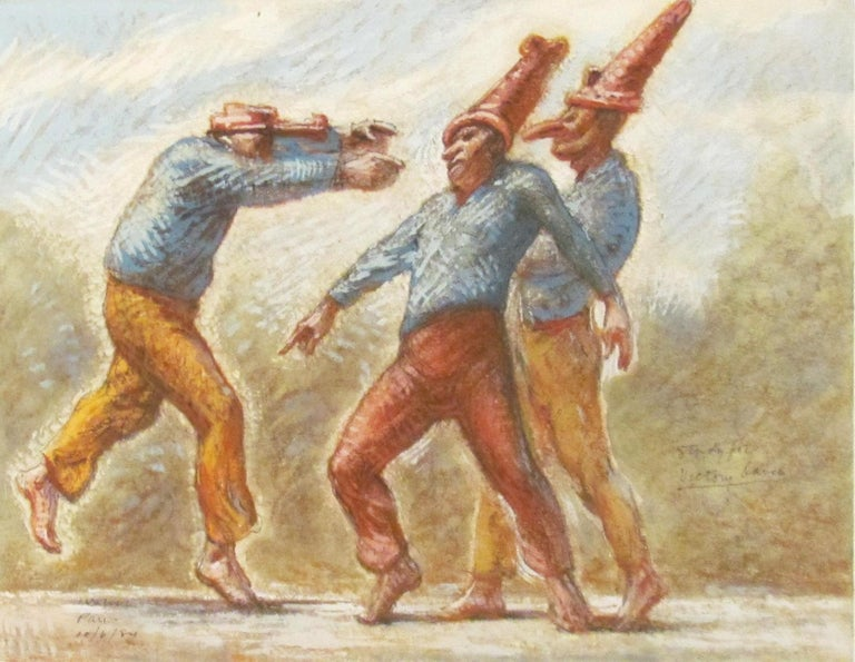 Robert Levers Figurative Art - Study for 'Punchinellos' Victory Dance