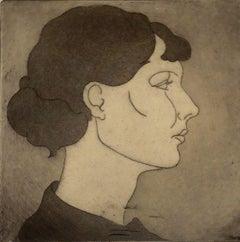 """""""Caroline"""" Profile Portrait of a Woman"""