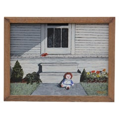 Raggedy Ann in Front of Porch