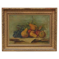 Still Life of Pears with Grapes