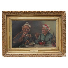 Dinning Elderly Couple