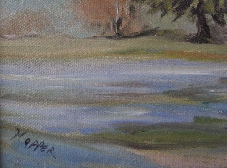 Texas Bluebonnet Pastoral Landscape - Black Landscape Painting by Napper