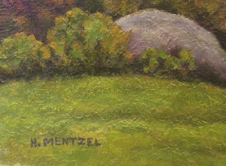 Idyllic Pastel Landscape - Painting by H. Mentzel