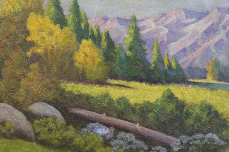 Idyllic Pastel Landscape - Naturalistic Painting by H. Mentzel