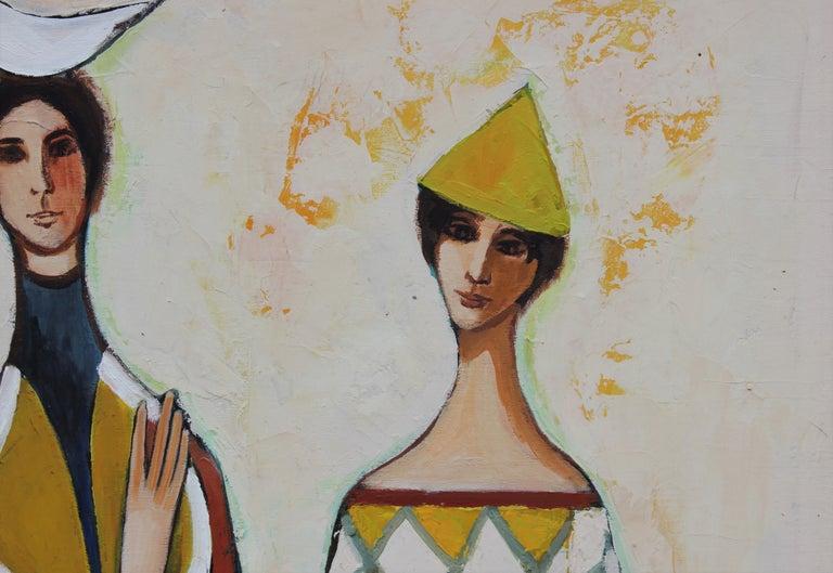 Three Harlequin Figures in the Style of David Adickes 2