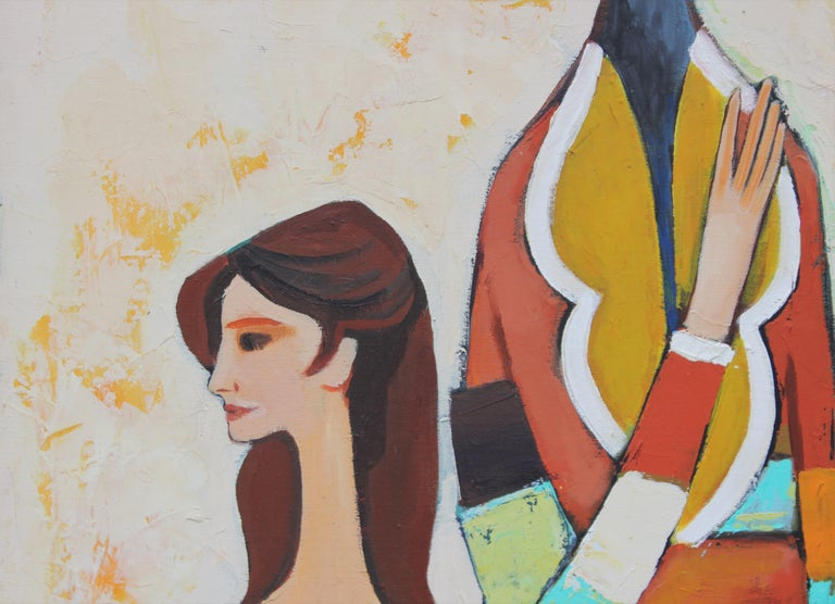 Three Harlequin Figures in the Style of David Adickes 4