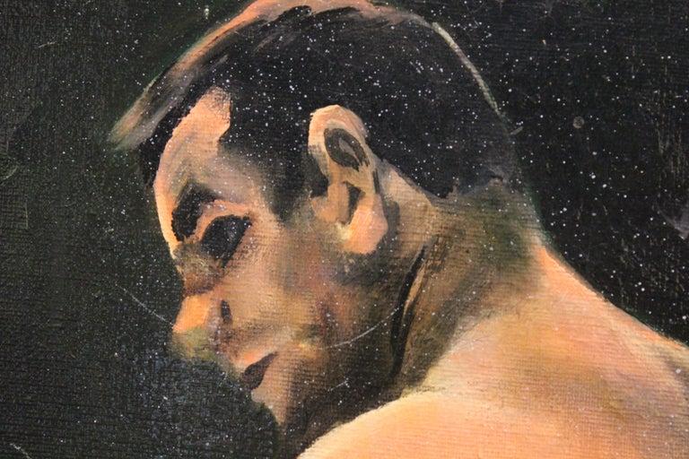 Boxing Match- Ingemar Johansson vs Floyd Patterson - Painting by Ferine Bruun