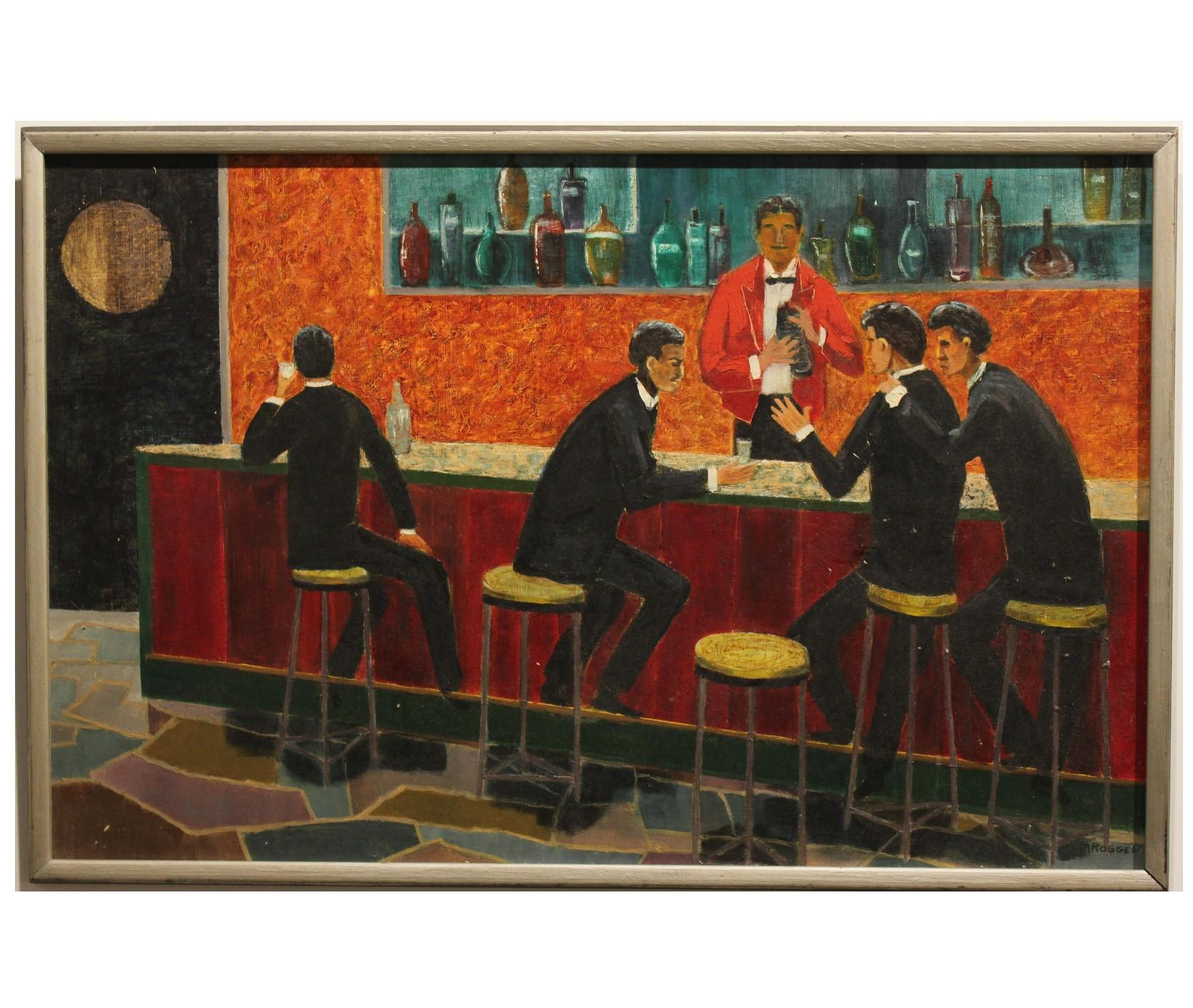 Vintage Latino Bar Scene