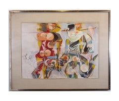 Abstract Expressionist Figures in the Style of William de Kooning