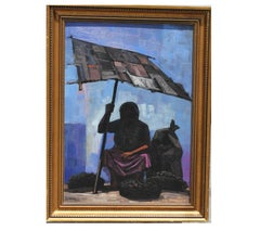 Impressionist Women Sitting Under an Awning