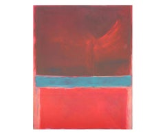 """Tango on Tuesday"" Red and Blue Colorfield after Mark Rothko"