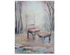 Abstract Chair Still Life in a Forest