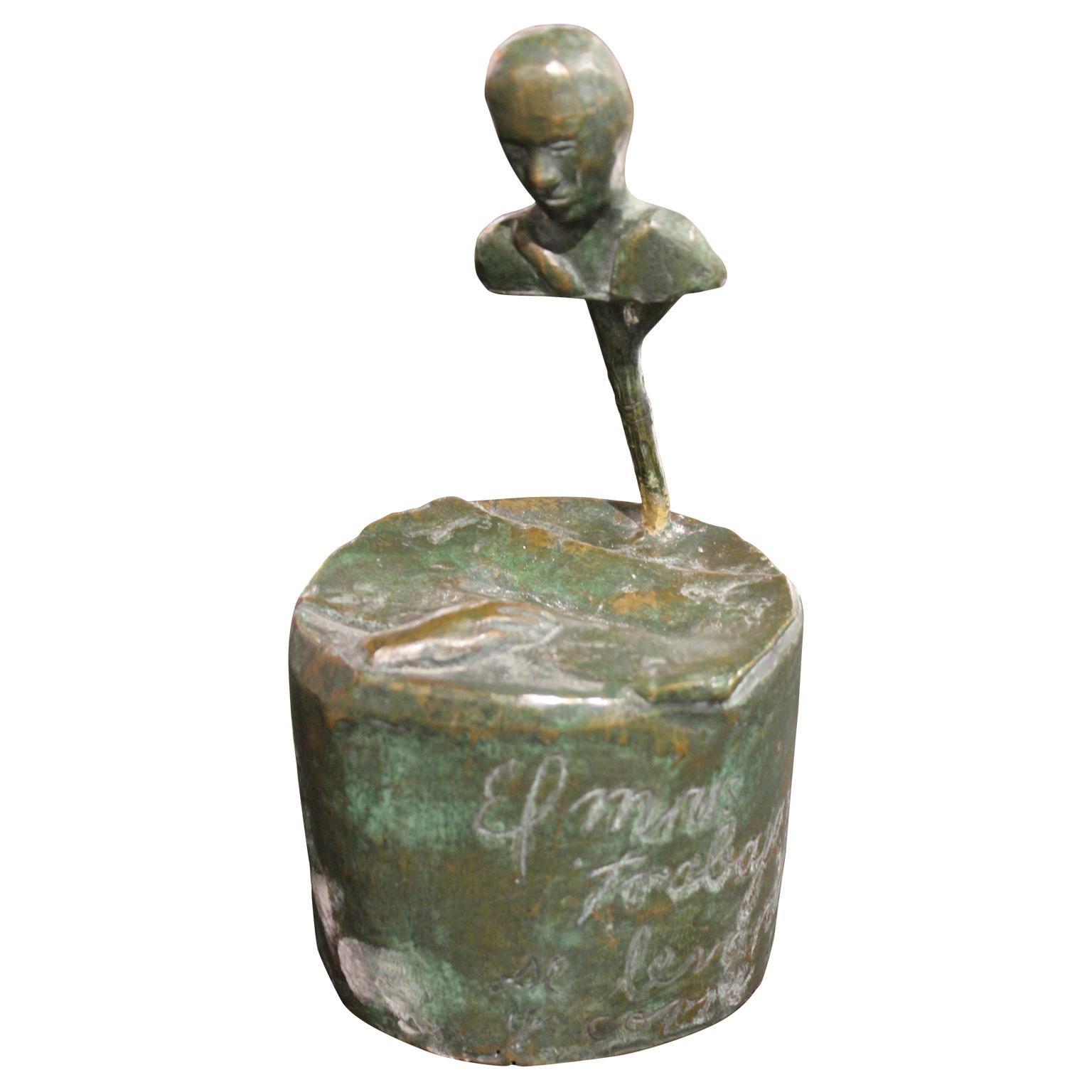 Surrealist Figurative Bronze Sculpture