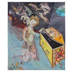 """""""Pandora's Box"""" Large Greek Mythology Theme Surrealist Painting"""