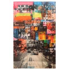 """Hong Kong III"" Colorful Abstract Street View"