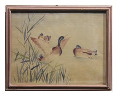 Study of Ducks Watercolor Painting
