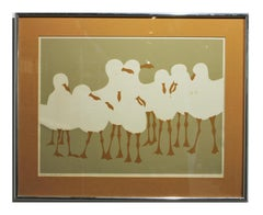 """The Council"" Minimalist Lithograph of Seagulls Edition 31 of 375"