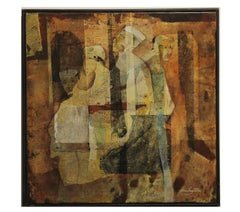 Cubist Abstract Figurative painting with Four Men