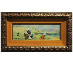 Impressionist Landscape with Field Workers