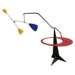 Primary Colored Geometric Kinetic Sculpture