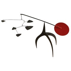 Red and Black Geometric Kinetic Sculpture