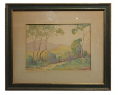 """San Gabriel Foothills"" Impressionist Landscape of California"