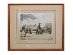 """Drottingholm"" Palace Etching on Silk"