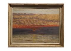 Naturalistic Setting Sun Seascape