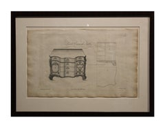"French Commode Table Etching From ""The Gentleman and Cabinet-Maker's Director"""