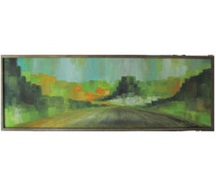 """Speeding"" Impressionist Natural Tonal Painting"