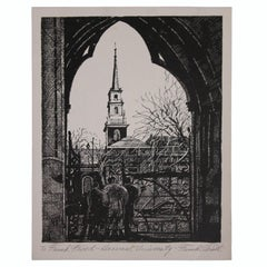 """Harvard University"" Architectural Etching to Frank Freed"