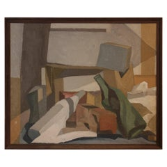 """House on Cherry Hill"" Cubist Abstract Still Life"