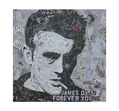"""James Dean Forever Young"" Pop Assemblage Portrait"