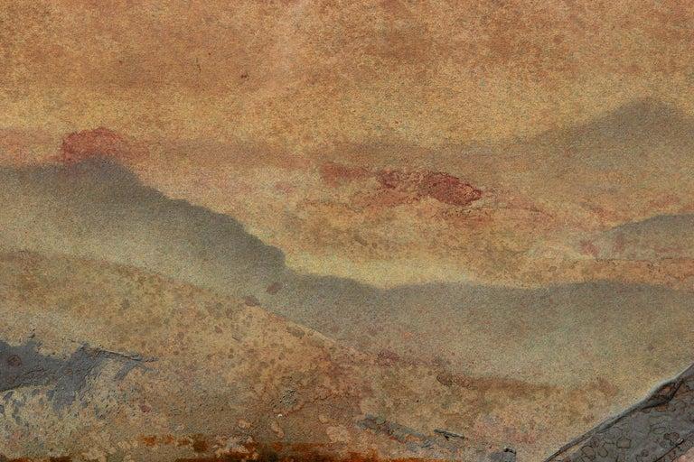 Impressionist Earth Tonal Mountain Landscape  - Art by Brent Millar