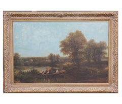 Naturalistic Landscape with Figures on a Boat
