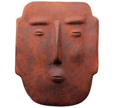 Terracotta Mask Wall Sculpture